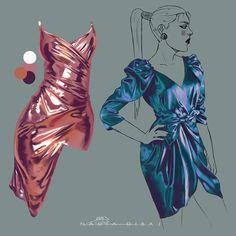 (nadiadibaj:   fabric studies 04 *programs:...) Digital Painting Tutorials, Digital Art Tutorial, Art Tutorials, Art Sketches, Art Drawings, Fabric Drawing, Fashion Design Drawings, Anatomy Art, Art Reference Poses