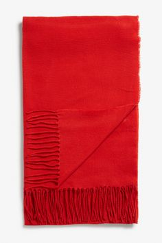 Monki Cosy scarf in Red Yellowish