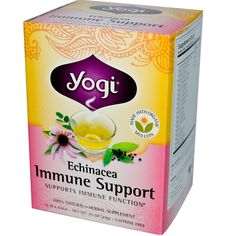Yogi Tea, Echinacea Immune Support, Caffeine Free, 16 Tea Bags, .85 oz (24 g) - iHerb.com. Bruk gjerne rabattkoden min (CEC956) hvis du vil handle på iHerb for første gang. Da får du $5 i rabatt på din første ordre (eller $10 om du handler for over $40), og jeg blir kjempeglad, siden jeg får poeng som jeg kan handle for på iHerb. :-)