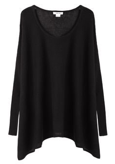 Helmut Lang / Boat Neck Pullover the ever so must in any wardrobe. The Black long cozy sweater.