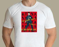 Elvis Presley - Jailhouse Rock T-shirt. Design by graphic artist Jarod. Available from www.rocknprint.nl