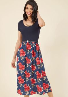 #NewYear #ModCloth - #ModCloth Savvy Storyteller Midi Dress in Rouge in L - AdoreWe.com