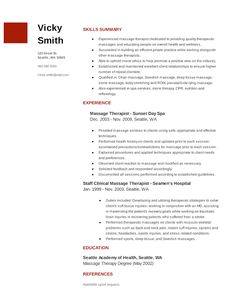massage therapist resume sample sample resumes