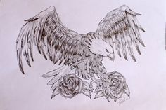 Eagle tattoo design by ThereseDrawings on deviantART