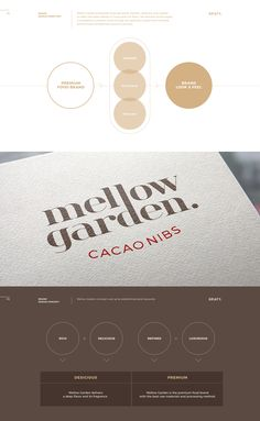 Visiopharm Mellow Garden Brand Experience Design on Behance What Parents Need to Know About Fussy Ba Diagram Design, Graph Design, Ppt Design, Brochure Design, Layout Design, Branding Design, Logo Design, Logo Guidelines, Presentation Layout