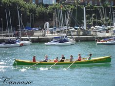 Sir Tristan Rowing gig in Weymouth harbour.