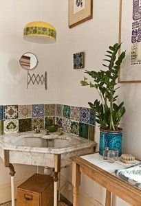 awesome patterns *tiny powder room!