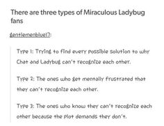 They forgot the fourth one.... The one who is a mix of all three, in other words, me. XD