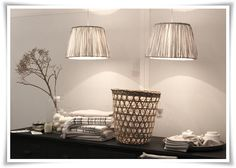 softly pleated lampshades - interesting  from Tine K Home