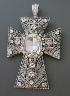 COWGIRL BLING  stunning rhinestone cross pendant!  LOTS MORE BLING AT  BAHA RANCH WESTERN WEAR ebay seller id  SOLOEDITION