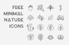 Free minimal nature icons is a pack of free demo vector icons from Allicons bundle. Containing 16 customizable icons of trees, road, leaves an