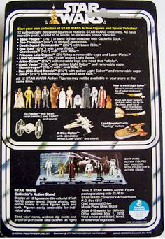 Kenner Star Wars Figure - back of card