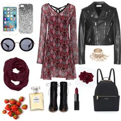 Autumn - LolliGlam style by lolliglam-1 on Polyvore featuring polyvore, fashion, style, Yves Saint Laurent, Gianvito Rossi, Henri Bendel, Athleta, Topshop, Miu Miu, NARS Cosmetics and Chanel