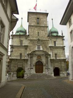 Rathaus Solothurn CH Switzerland, Taj Mahal, Building, Travel, Scenery, Photo Illustration, Viajes, Buildings, Trips