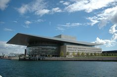 The Royal Danish Opera House in Copenhagen was designed by Henning Larsen and opened in 2005.