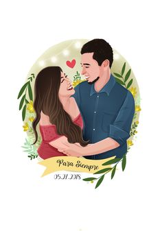 Illustration Vector, Couple Illustration, Portrait Illustration, Vector Art, Illustrations, Caricature Gifts, Wedding Caricature, Mothers Day Drawings, Couple Drawings