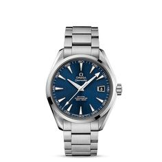 Seamaster Aqua Terra 150 M Omega Co-Axial 41.5mm - ref. 231.10.42.21.03.001 : This classic yet robust timepiece represents a tribute to OMEGA's rich maritime heritage. The dramatic and easily-recognisable dial design of the OMEGA Seamaster Aqua Terra 150M collection recalls the wooden decks of luxury sailboats. This model features a blue dial decorated with the Teak Concept pattern. A date window can be found at the 3 o'clock position. A scratch-resistant sapphire crystal protects this ...