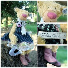 I would like to present you my new teddy bear Marta. She comes from Germany and was made by designer Nicole Marschollek Menzner and produced by German company Zwergnase.