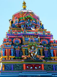 Brilliant colors!  Colorful Hindu TempleBy Stanley Zimny