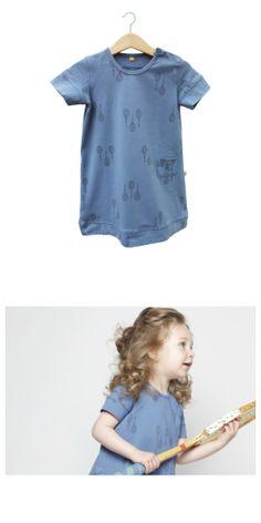 Rackets dusk-blue dress - lötiekids