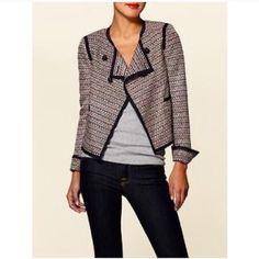 Elizabeth & James zigzag Freddie jacket EUC Elizabeth & James Freddie jacket• zig zag pattern • linen blend• size 4 Elizabeth and James Jackets & Coats