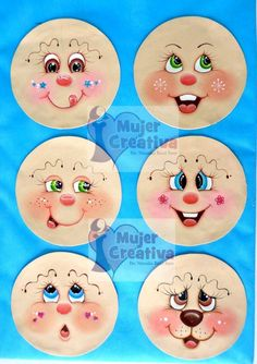 Lica za lutke. I oči Flower Pot Crafts, Clay Pot Crafts, Doll Crafts, Christmas Crafts, Paper Crafts, Tole Painting Patterns, Snowman Faces, Eye Painting, Christmas Swags