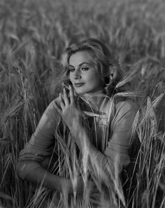 Swedish actress Anita Ekberg (Fellini's La Dolce Vita) photographed by Andre De Dienes between 1954 and 1956.
