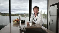 Point of view: Barry Faux at his home on the Kingston Foreshore. He is one of a number of Canberrans enjoying life by the lake. With thanks from The Canberra Times http://smh.domain.com.au/real-estate-news/kingston-foreshore-best-yet-for-longterm-canberra-resident-20141015-11685e.html
