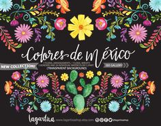 Buy Now Mexican Watercolor Floral clipart PNG mexican party. Mexican Crafts, Mexican Folk Art, Mexican Style, Mexican Heritage, Mexican Fashion, Clipart, Art Chicano, Chicano Tattoos, Floral Watercolor