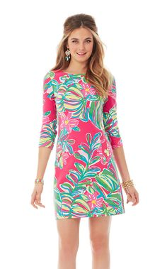 This Charlene long sleeve knit shift dress is a Lilly girl staple. This season, you'll find Charlene is some of our favorite prints. A-Line dresses are flattering on everyone, and you'll be able to wear it anywhere.