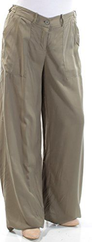 $98 Womens New 1399 Green Pocketed Wide Leg Wear to Work Pants 12 B B