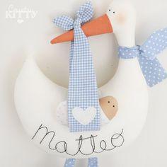 Blu di cicogna softie neonato decorazione  di CountrykittyHandmade