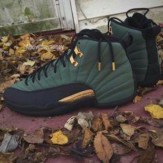 Jordans Retro 12's Olive