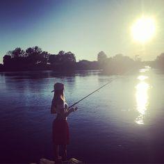 Late sunset fishing 💜