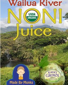 Free Samples of Wailua River Noni Juice today 1/31 at #DTEPearlridge 11:30a-3:30p This noni is grown and processed by the Wailua River in Kauai!