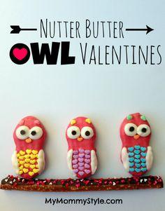 Nutter Butter Owl Valentines!