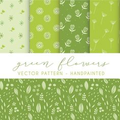 Floral patterns collection Free Vector