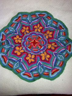 Madwomanlace.:Overlay Crochet Mandala  -   free pattern. Thank you Andrea :)