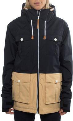 CLWR Colour Wear Bust Women's Ski/Snowboard Jacket, M, Black