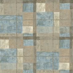 allen   roth�Blue Strippable Non-Woven Paper Prepasted Wallpaper