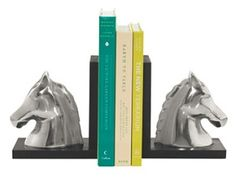 These horsehead book ends are a unique but useful gift for any equestrian lover in your life!