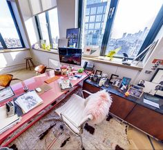 Jenna Lyon's office at J.Crew
