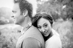 I love this engagement photo. It is simple and sweet. Color photography is stunning, but with black & white photography you can really focus on the subjects.