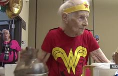 Because Mary Cotter, of Montclair, Calif., spent hers volunteering at a senior center. In a Wonder Woman costume. And oh yeah, she's 103 YEARS OLD.