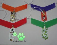 10 GRAVATAS C/ COLARINHO DE ESPUMA Pet Shop, Cool Stuff, Bandanas, Crafts, Bow Ties For Dogs, Tie Dye Outfits, Embellishments, Diy And Crafts, Necklace Guide