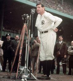 Babe Ruth in his NY Yankee uniform~ rare color photo