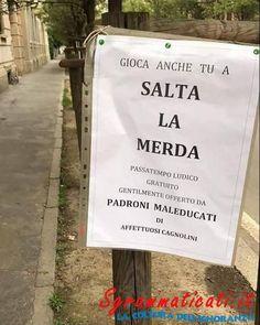 #cartello divertente #image #marciapiede #merda