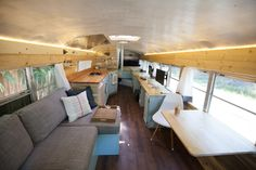 Outside Found Bus Conversion – Living Room