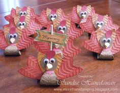 Turkey Treat holders and placecards