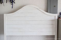 This step-by-step tutorial explains how to distress new wood into Joanna Gaines signature style. Also includes plans for an exact replica of her headboard!